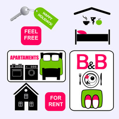 icons for bed and breakfast