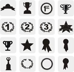 16 boutons trophée