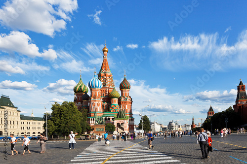 view of Pokrovsky cathedral on Red square