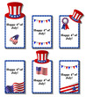 July 4 patriotic card set