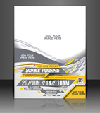 Vector Horse Riding  flyer, magazine cover