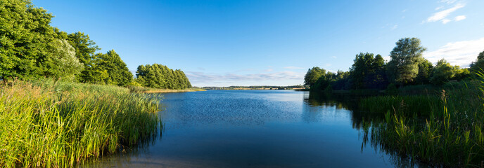 Lake in Lubichowo, Poland