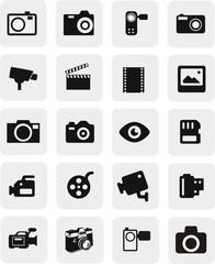 20 boutons photo et vidéo