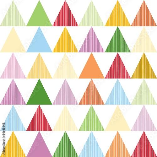 kolorowe trójkąty w rzędach nieskończony deseń scrapbook papier