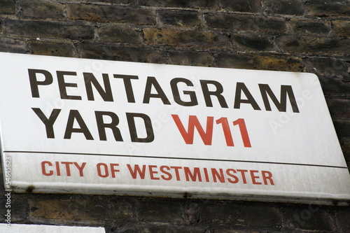 Pentagram Yard Road Sign