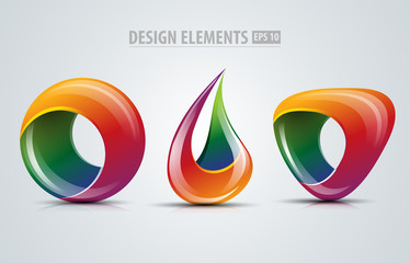 Logo design abstract elements