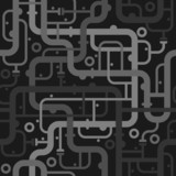 Abstract piping seamless pattern. Vector illustration.