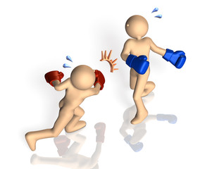 Rendered image depicting a knockout