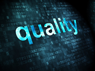 Marketing concept: Quality on digital background