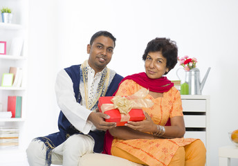 punjabi family mother and son with lifestyle setting