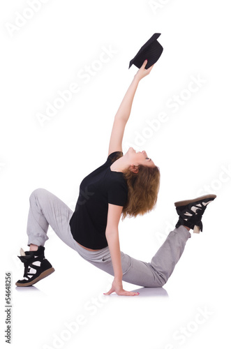 Plexiglas Woman dancer dancing modern dances