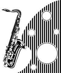 Saxophone. Musical background
