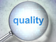 Marketing concept: Quality with optical glass