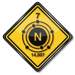 Schild 1006 Stickstoff