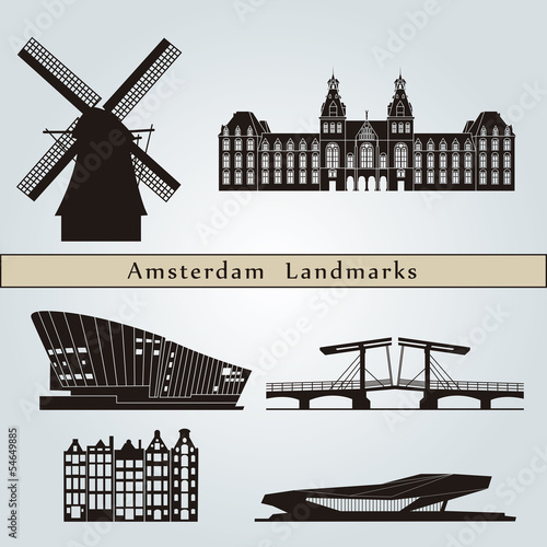 Amsterdam landmarks and monuments