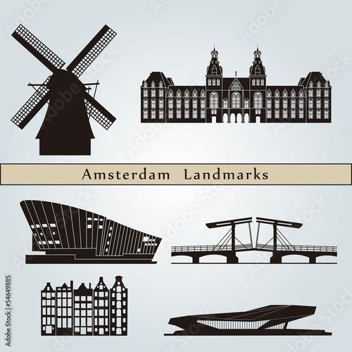 amsterdam landmarks and monuments stockfotos und lizenzfreie vektoren auf bild. Black Bedroom Furniture Sets. Home Design Ideas