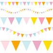 5 Seamless Buntings Pastel/Blue
