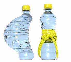 Botellas de agua con metro