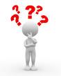 Question mark. Confusion