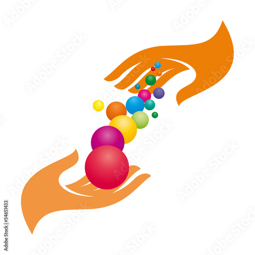 Vector Logo abstract spheres