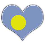 Heart with flag of Palau
