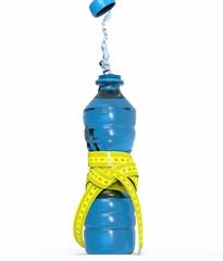 Botella con chorro de agua