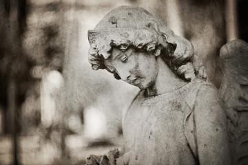 angel tombstone - textured