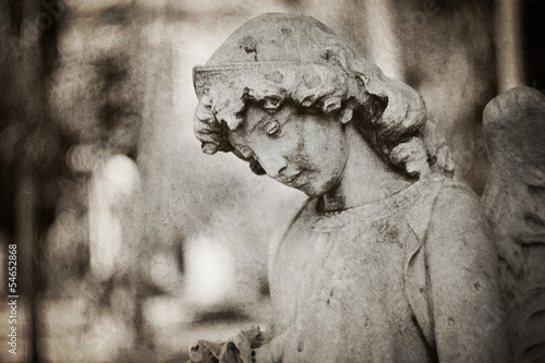 angel tombstone - textured