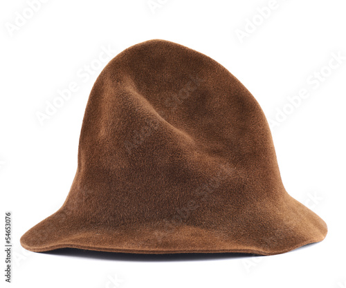 Brown hat isolated