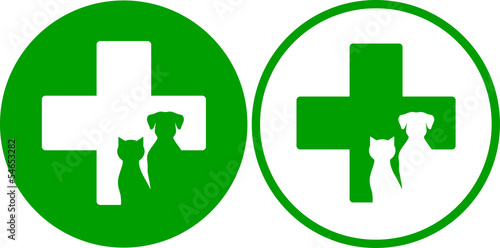 green veterinary icons