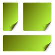 Sticker Set mit gebogener Ecke - grün