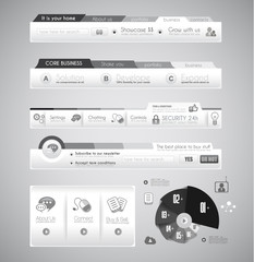 Quality web elements with infographic.