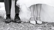Schuhe des Brautpaares