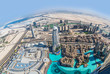 Dubai downtown. East, United Arab Emirates architecture. Aerial