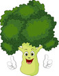 cartoon broccoli thumb up for you design