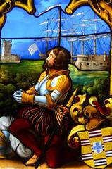 Detalle de unos vitrales en Palacio de la Pena. Sintra. Po