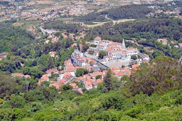 Vista aerea de la localidad de Sintra. Lisboa. Portugal