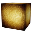 golden cube (isolated with clipping path)