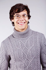 Smiling guy in sweater