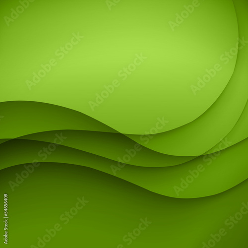 Colorful green lines vector background