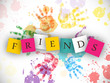 Happy Friendship Day background or concept.