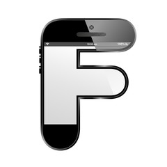 conceptual modern art design of the alphabet letter F