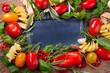 Zutaten für die italienische Küche - Hintergrund mit Copy space
