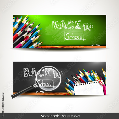 Back to school - vector banners