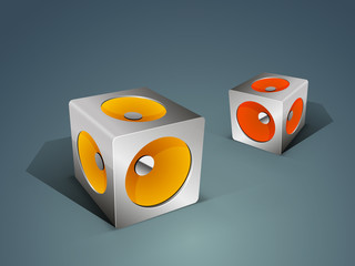 Stylish speakers for music concept.