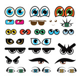 Vector collection of various eyes - 54657637
