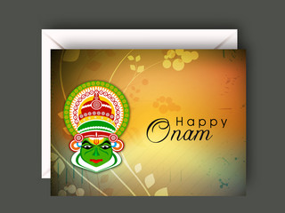 South Indian festival Onam wishes background