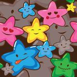 kawaii stars seamless  pattern - 54657894