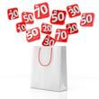 Tragetasche mit Prozenten - 3D Illustration