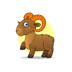 Illustration of Taurus astrological sign. Vector art.